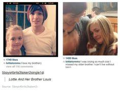 Louis and Lottie Tomlinson... best sibling pair ♥lots of love♥