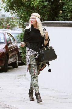 Camo Pants. Heels. Urban Fashion. Urban Outfit. Swag. Dope. Hip Hop Fashion. Gwen Stefani Style