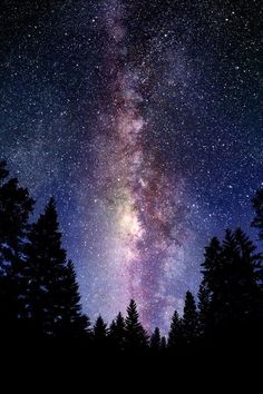 The milky way...stood under neath this once while way up in the Colorado Rocky Mountains, it's quite breathtaking. I was in my twenties & was stunned.