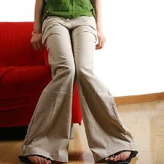 Less is More  top quality linen pants K1201 by idea2lifestyle, $53.00