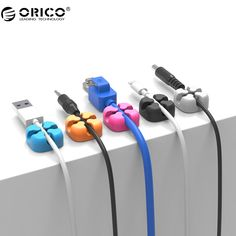 Devoted Orico 10pcs Colorful Cable Winder Wire Storage Silicon Cable Manager Holder Desk Tidy Organiser For Digital Cable Mouse Earphone Consumer Electronics