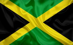 Download wallpapers Jamaican flag, Jamaica, Caribbean, flag of Jamaica