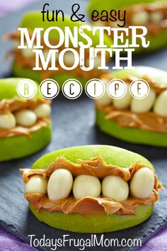 Looking for a kid-friendly treat for your next monster themed or Halloween party? If so, try these fun and easy monster mouths! :: todaysfrugalmom.com