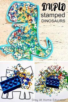 Daycare Crafts, Preschool Crafts, Dinosaur Crafts For Preschoolers, Dinosaurs For Toddlers, Art For Preschoolers, Preschool Art Projects, Preschool Ideas, Art Projects For Kindergarteners, Dinosaurs Eyfs