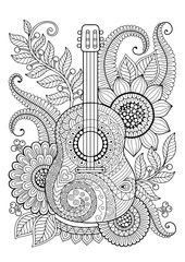 Coloring Page Adult Antistress Relax Meditation Zentangle Coloring Pages Doodle Art Drawing, Zentangle Drawings, Mandala Drawing, Zentangle Patterns, Zentangles, Free Adult Coloring Pages, Mandala Coloring Pages, Colouring Pages, Coloring Books
