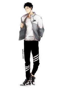 this outfit? on iwaizumi? the artist is a genius Haikyuu Iwaizumi, Manga Haikyuu, Iwaoi, Anime Manga, Daisuga, Kuroken, Kagehina, Otaku, Kurotsuki