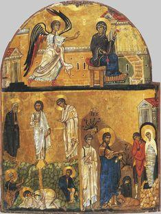 Благовещение. Преображение. Воскресение Лазаря; XII в.; Византия. - православные мастерские «Русская Икона»