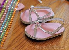 AmericanGirlFan: Doll Craft: How to Make Doll Sandals (With Free Pattern)!