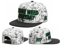 Men's Cayler & Sons C & S Green Label Smoke Weed Everyday Snapback Hat - Grey / Black