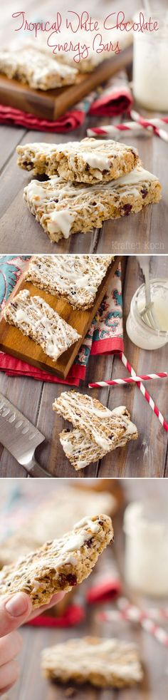 Tropical White Chocolate Energy Bars - Krafted Koch - Loaded with healthy…