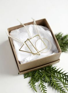 DIY Geometric Ornaments Tutorial