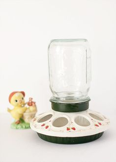 Decorated Chicken Feeder Country Decor Shabby by ForestDaydream, $18.00