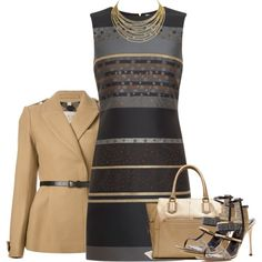Untitled #2378 by mrsdarlene on Polyvore featuring Victoria, Victoria Beckham, Burberry, Sergio Rossi, Witchery and Cartier