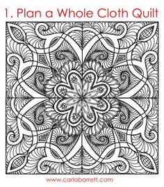 Digital b&w quilt by Carla Barrett