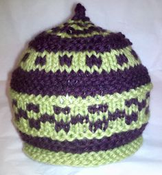 checkerboard baby hat