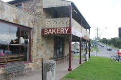 The Heritage Bakery - where the pies and sausage rolls are so yummy.