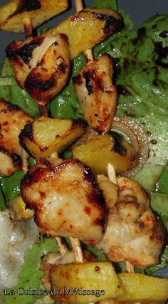 La Cuisine du Métissage: Brochettes poulet-ananas aux épices mexicaines