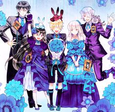 Alice Baskerville, Oz Vessalius, Gilbert Nightray, Sharon Rainsworth, Xerxes Break /Pandora Hearts/