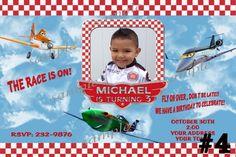 20 Printed Disney Planes Birthday Party Personalized Invitations Race | TreasuredInvitations - Digital Art  on ArtFire