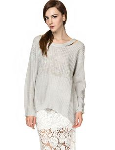 Cut it Out Slouchy Sweater