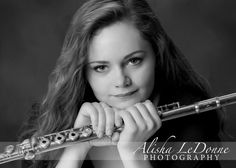 Senior Picture / Photo / Portrait Idea - Musician - Band - Flute - Girls