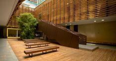 Image 3 of 18 from gallery of Julio Mario Santo Domingo Building / Daniel Bonilla Arquitectos. Patio Interior, Modern Stairs, Church Building, Mario, Modern Architecture, Entrance, Pergola, Cool Designs, House