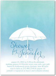 Ombre Bridal Shower Invitation