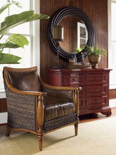Island Estate Agave Leather Chair | Lexington Home Brands