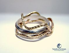 4 rings goldfilled and silver
