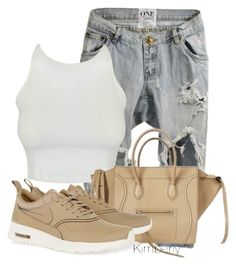"""""""Untitled #1379"""" by whokd ❤ liked on Polyvore featuring CÉLINE and NIKE"""