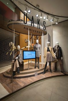 DAKS Window Display | Carousel, AW14 by Millington Associates