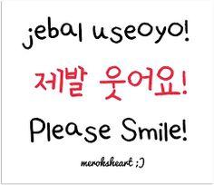 Por favor sorria