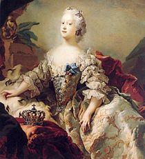 Frederik 5. giftede sig i 1743 Louise af Storbritannien.   Louise af Storbritannien - Wikipedia,