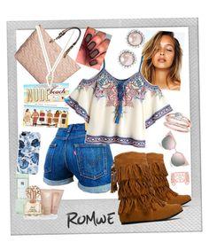 """#romwe #contest"" by stylishbysamantha on Polyvore featuring Polaroid, Karl Lagerfeld, West Blvd, Vince Camuto, Miu Miu and Fendi"