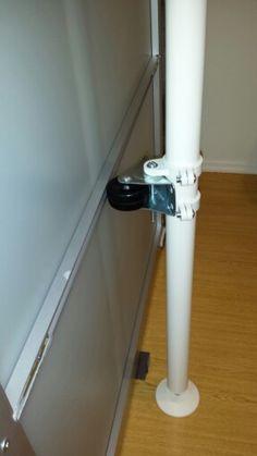 IKEA hack to stabilize Pax sliding doors 3