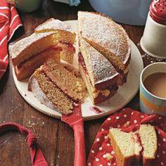 Orange and almond Victoria sponge Recipe   delicious. Magazine free recipes
