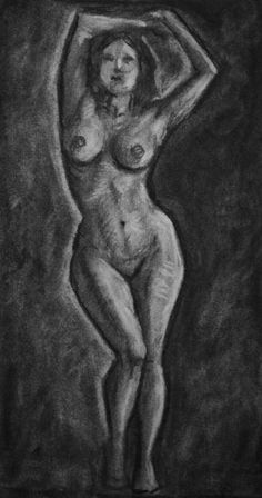 Decided to put my figure drawing to the test with a longer sitting in charcoal, wasn't as happy with the result as I expected to be, so I had to do two (see next piece).