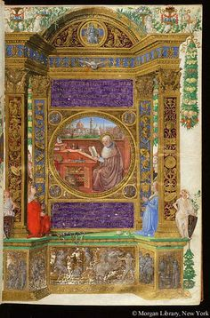 Miscellaneous patristic texts on Saint John Climacus and the Scala paradisi, MS M.496 fol. 2r - Images from Medieval and Renaissance Manuscripts - The Morgan Library & Museum