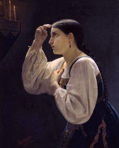 Капков Яков Федорович - Молящаяся девушка, 1851