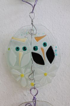 https://flic.kr/p/upNKLG | Art.appendi chiavi.0042 Gufetti | Bomboniere in vetro fusione con gufi ,cm 9 x 8 ,€12,00