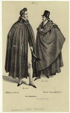 1830 france fashion | ... cloaks, France, 1830s.] Men -- Clothing & dress -- France -- 1830-1839