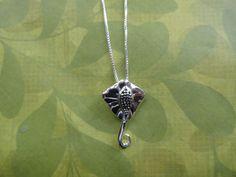 Stingray manta sterling silver necklace pendant