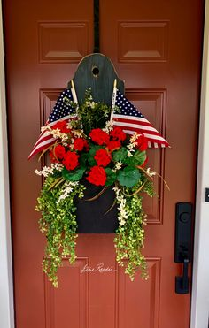 Fourth Of July Decor, 4th Of July Decorations, July 4th, Front Door Decor, Wreaths For Front Door, Front Doors, Front Porch, Seasonal Decor, Holiday Decor