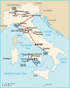 Perfect 2 week itineraries of Italy! I think that these could really work for our trip! :D