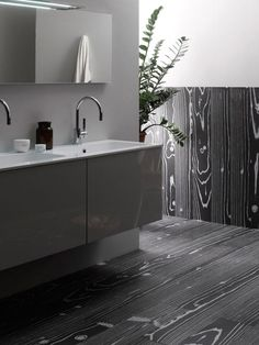 Stone Source Uonuon - Nero... Oh me, oh my... is it wood, is it tile, is it simply fabulous... Master bathroom options cont/d...