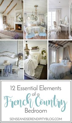 Vintage Bedroom 12 Essential Elements of a French Country Bedroom - Creating a beautiful French country style bedroom doesn't have to be hard. Incorporate these 12 essential elements to your room to create the look! French Country House, Country Decor, French Country Bedrooms, Country Style Bedroom, French Bedroom, Country House Decor, French Country Colors, French Country Kitchens