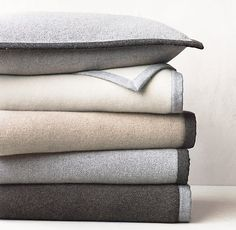 Bordered Cashmere Pillow Cover