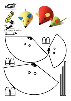 occuper vos enfants - Página 19 - kids crafts crafts for kids etc - Travaux manuels - Mouse Crafts, Paper Crafts For Kids, Arts And Crafts, Easy Crafts, Craft Activities, Preschool Crafts, Children Activities, Printable Crafts, Free Printables