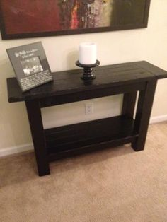Tryde Console Table   Do It Yourself Home Projects from Ana White