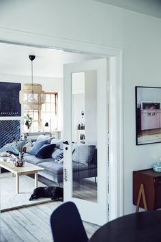 Inside Anne's home in Denmark, the rooms flow openly from one to the other. Find out how she adapted the layout of her living area to suit her family's everyday needs at IKEA.com #IKEAIDEAS Sofa Layout, Söderhamn Sofa, Ikea Sofa, Living Room Interior, Home Living Room, Living Spaces, Living Area, Best Home Interior Design, Country House Plans